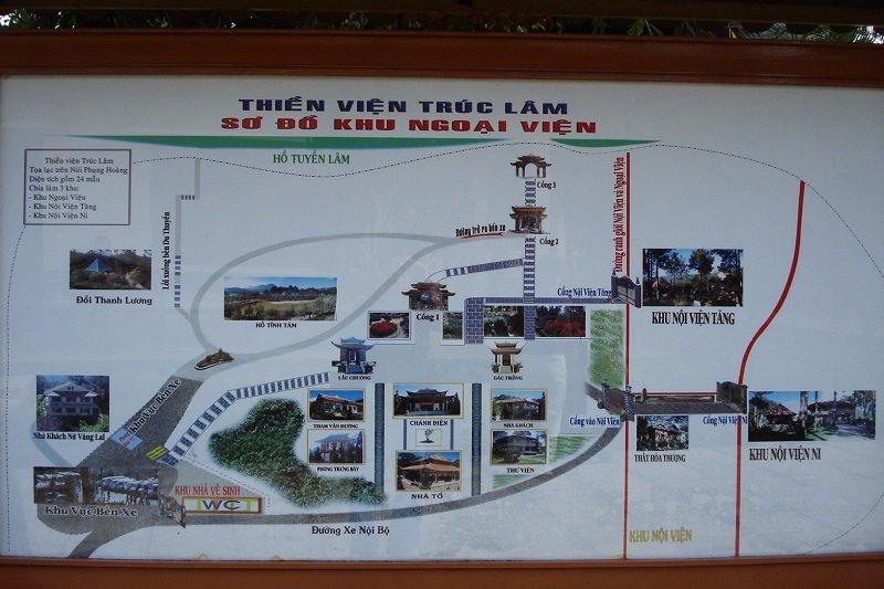 Bản đồ tham quan Thiền viện Trúc Lâm Đà Lạt