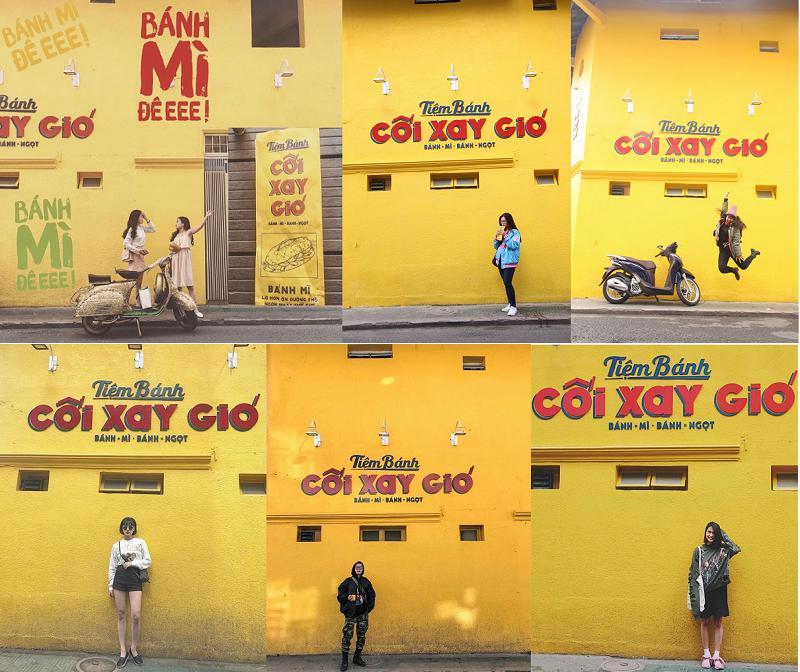 Bức tường huyền thoại của tiệm bánh mỳ cối xay gió