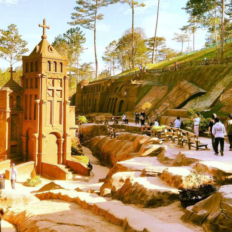 Kdl đường hầm đất sét Đà Lạt