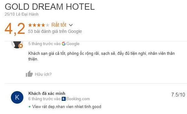 Khách sạn gold dream đà lạt là khách sạn đạt tiêu chuẩn 2 sao