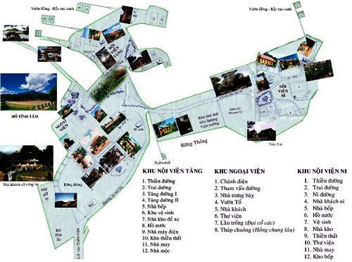 Bản đồ tham quan thiền viện Vạn Hạnh Đà Lạt