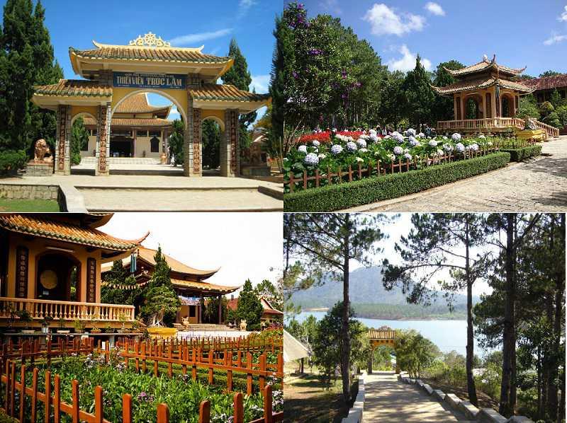 Khuôn viên xung quanh thiền viện Trúc Lâm Đà Lạt