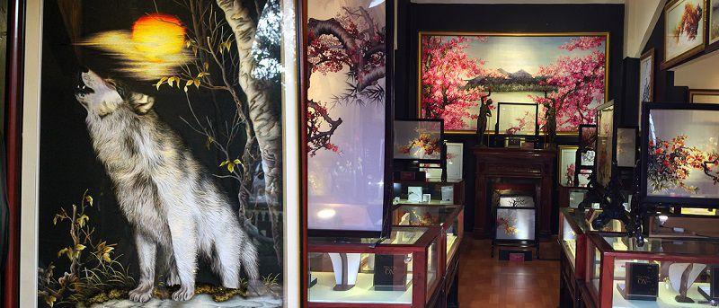 Bảo tàng tranh thêu ở XQ sử quán ở Đà Lạt