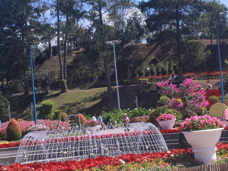 vườn hoa ở Đà Lạt