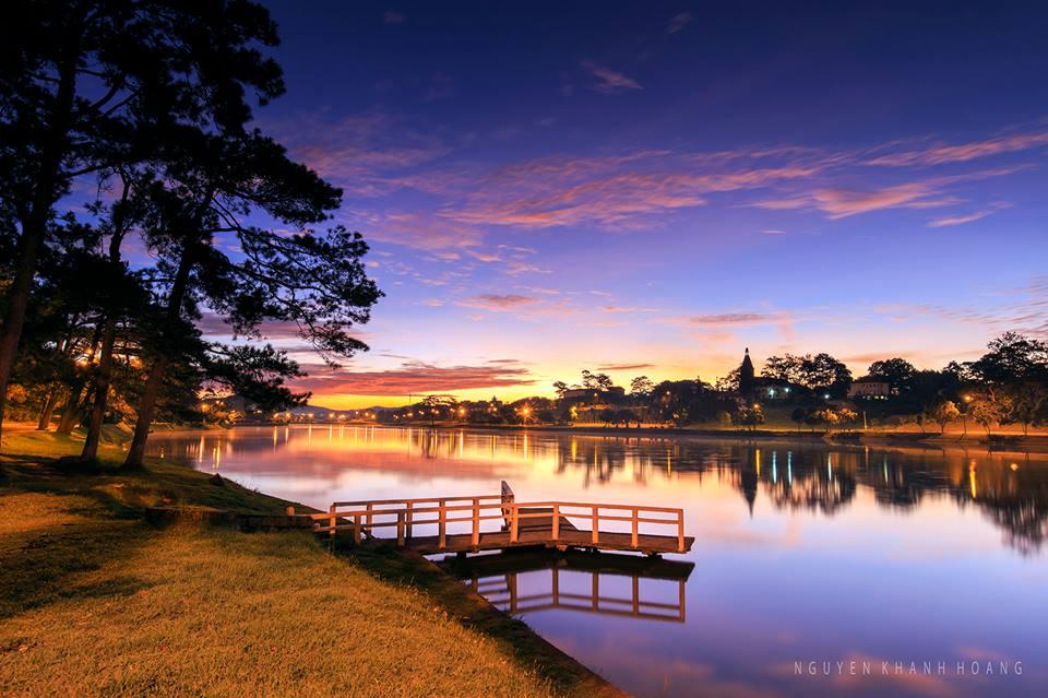 Chiều hoàng hôn trên Hồ Xuân Hương Đà Lạt