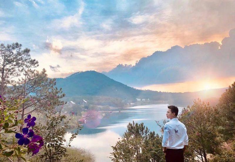 Phong cảnh thơ mộng tại hồ Tuyền Lâm Đà Lạt