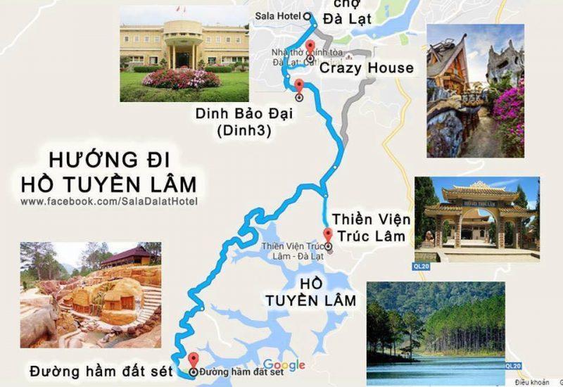 Các địa điểm gần hồ Tuyền Lâm Đà Lạt