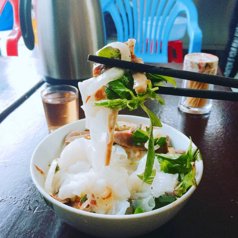 Bánh ướt lòng gà - món ăn vặt khá ngon và hấp dẫn ở Đà Lạt