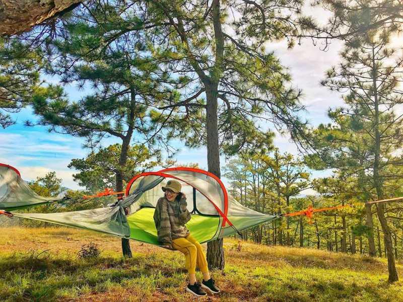 cắm trại tại Đà Lạt