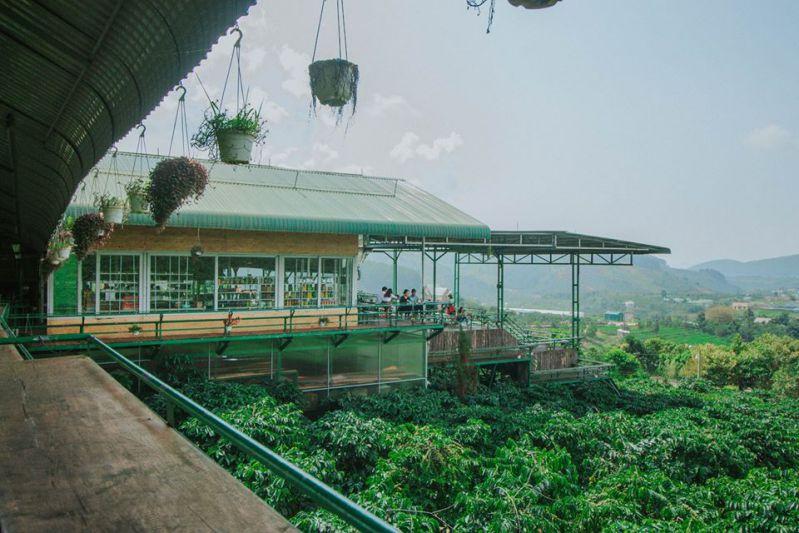 View quán cafe Mê Linh Đà Lạt