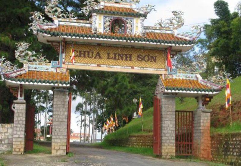 Hình ảnh cổng chùa Linh Sơn