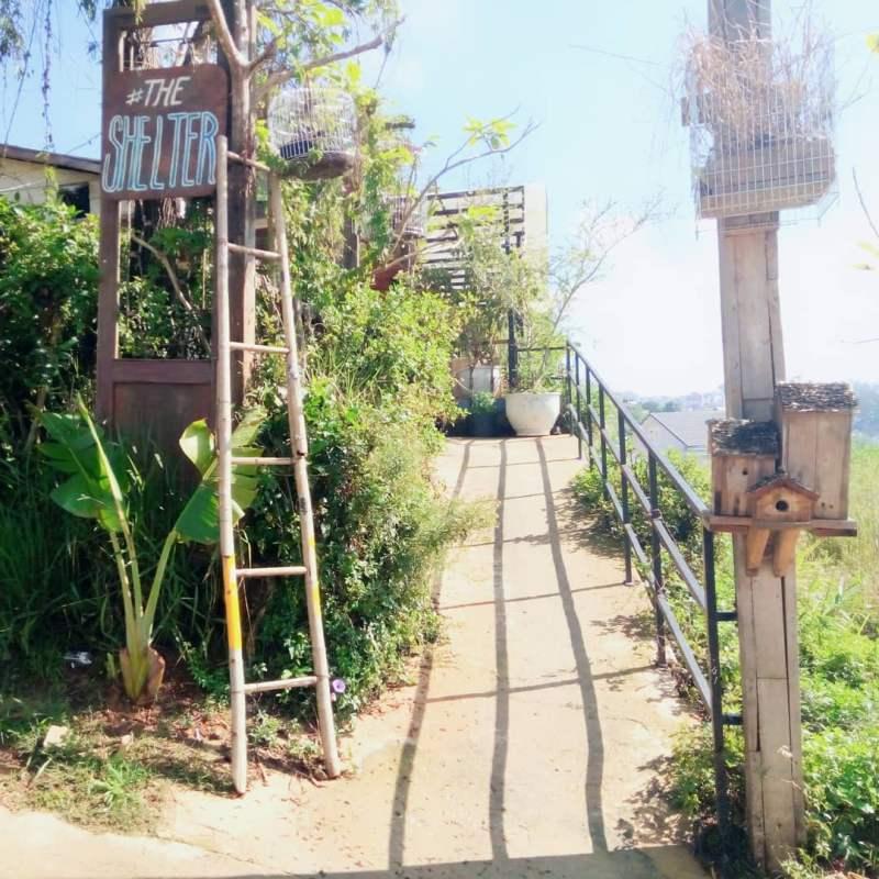 Lối vào của The Shelter homestay Đà Lạt