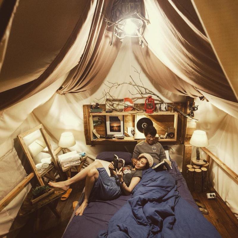 Không gian dễ thương bên trong The Shelter homestay Đà lạt