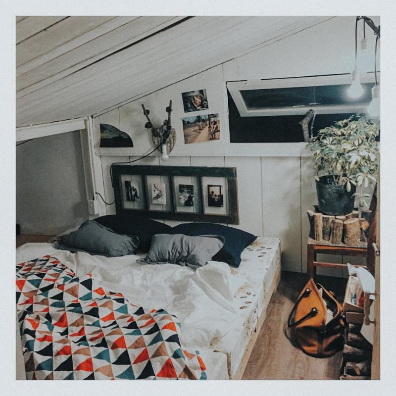 Không gian bên trong The Shelter homestay Đà Lạt