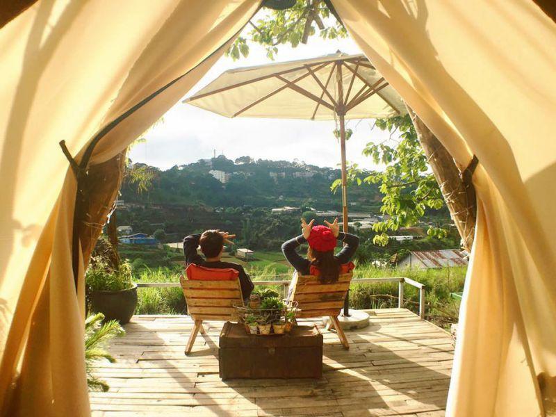 The Shelter homestay Đà Lạt có lều đẹp