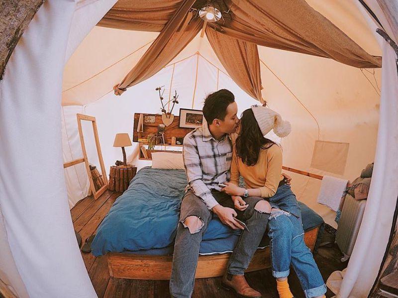 The Shelter homestay Đà Lạt có những căn lều rất dễ thương
