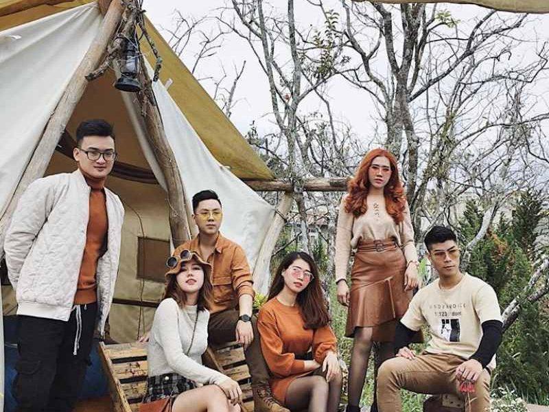 The Shelter homestay Đà Lạt có những căn lều đẹp lãng mạn