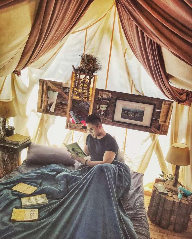The Shelter homestay Đà Lạt có những căn lều dễ thương