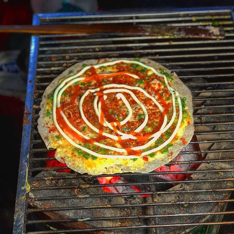 Bánh tráng nướng 61 Nguyễn Văn Trỗi ngon nổi tiếng ở tp. Đà Lạt