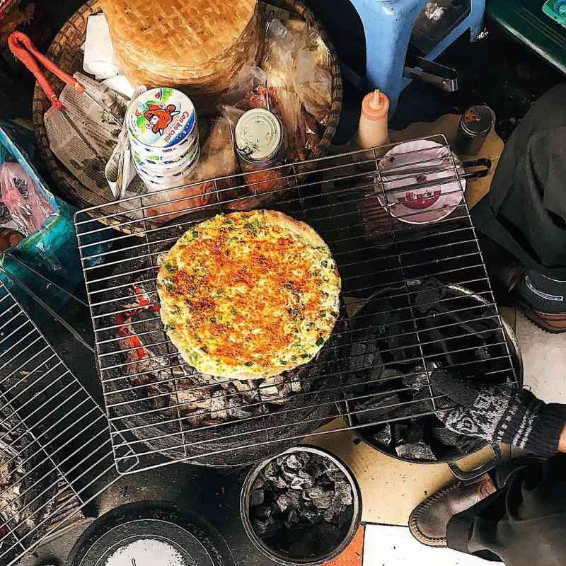 Bánh tráng nướng Ba cây dừa ngon, hấp dẫn và khá nổi tiếng ở Đà Lạt