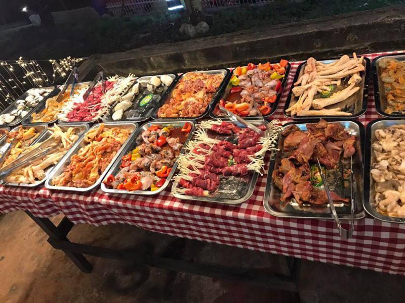 Đồ nướng tại quán nướng Buffet Tê Pê 99k Đà Lạt