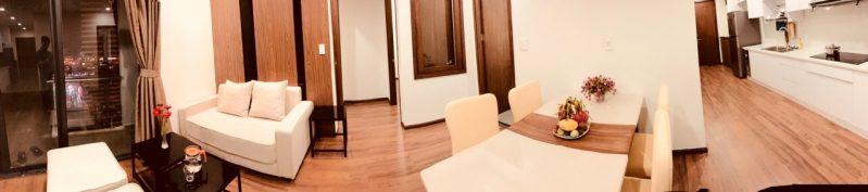 Toàn cảnh bên trong căn hộ du lịch cao cấp Dalat Center House tại Đà Lạt