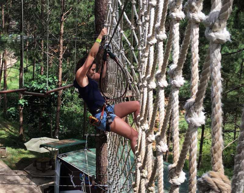 Trải nghiệm cảm giác đu dây ở Datanla High Rope Course Đà Lạt