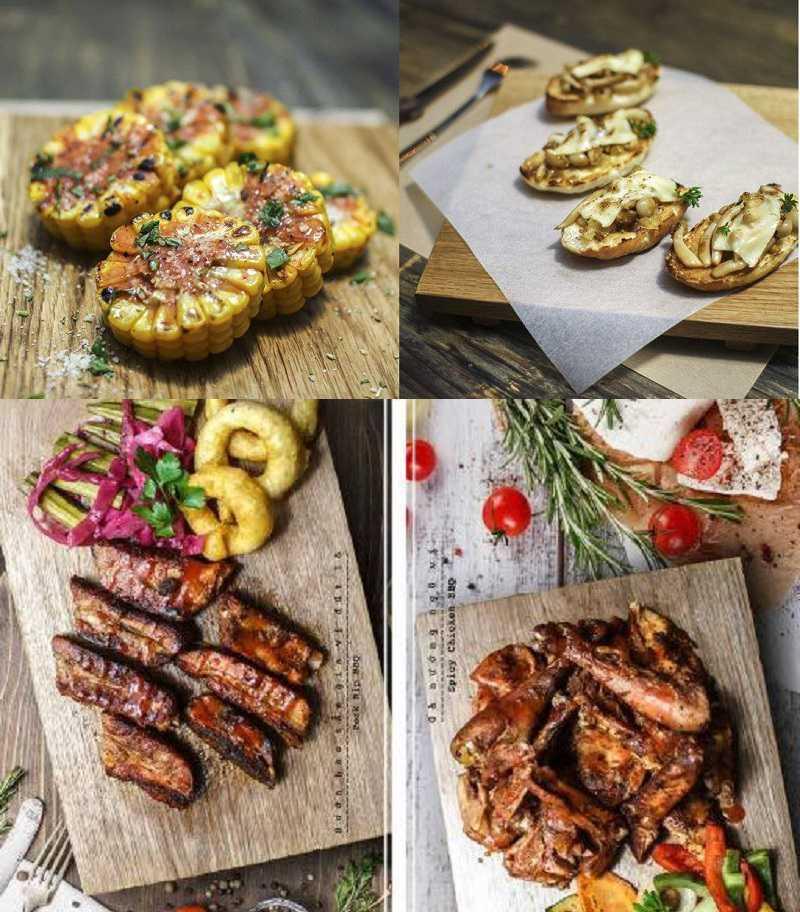 Đồ ăn tại quán nướng Barn House BBQ and BEER ở Đà Lạt trông khá đẹp