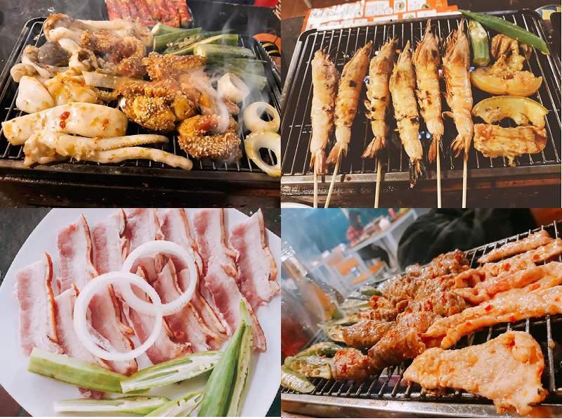 Một vài món ăn ngon tại Quán nướng BBQ No. 1 ở tp Đà Lạt