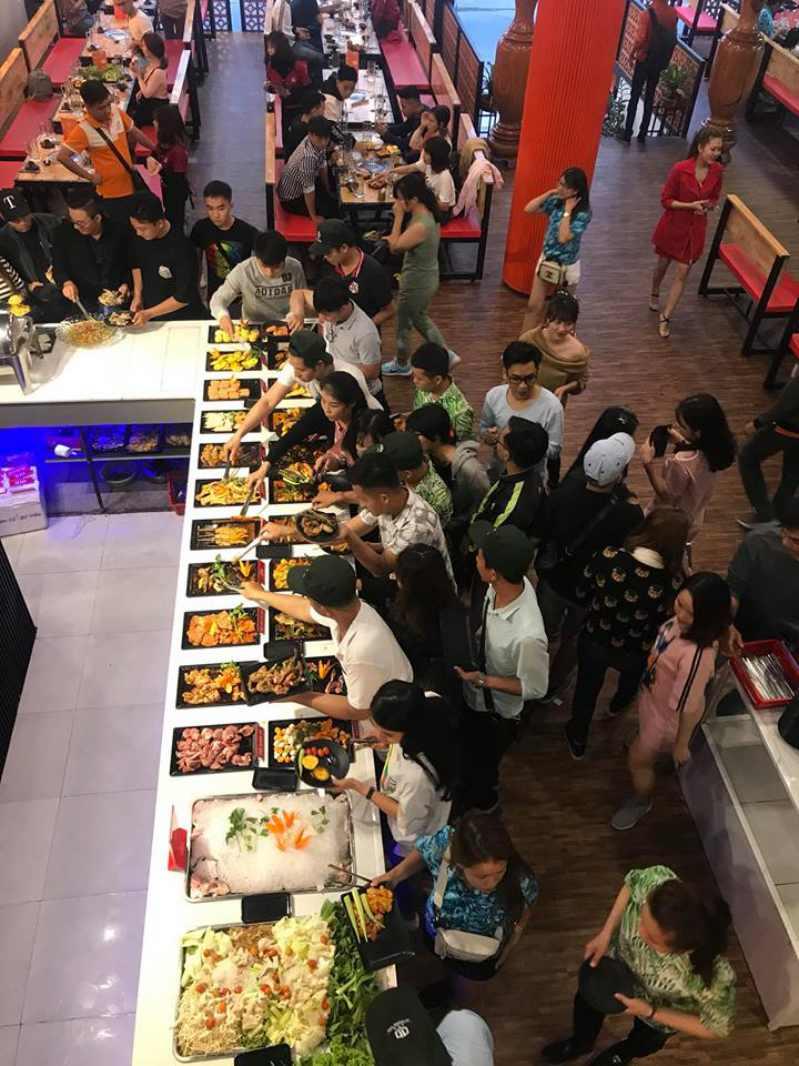 Không gian bên trong Quán HAI CÒN BBQ Buffet ở tp Đà Lạt