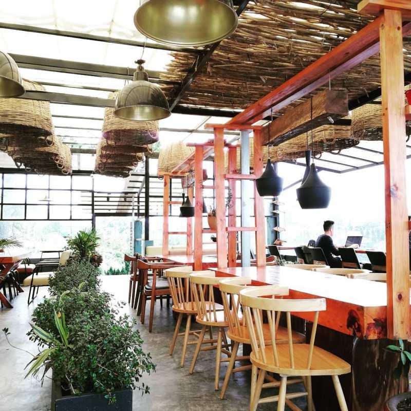 Một góc của Up Coffee ở Đà Lạt