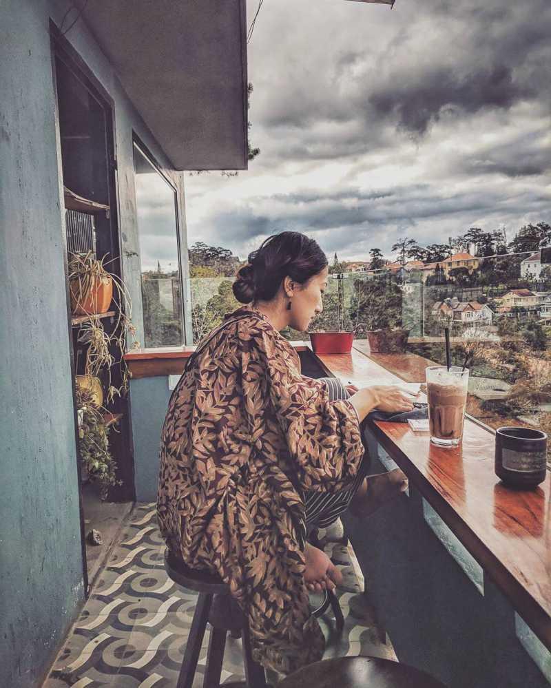 Ngắm nhìn thành phố Đà Lạt tại Up Cafe