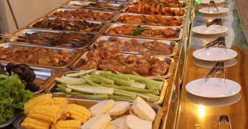 Đồ nướng tại quán Buffet nướng 2 Đô 98k ở tp Đà Lạt