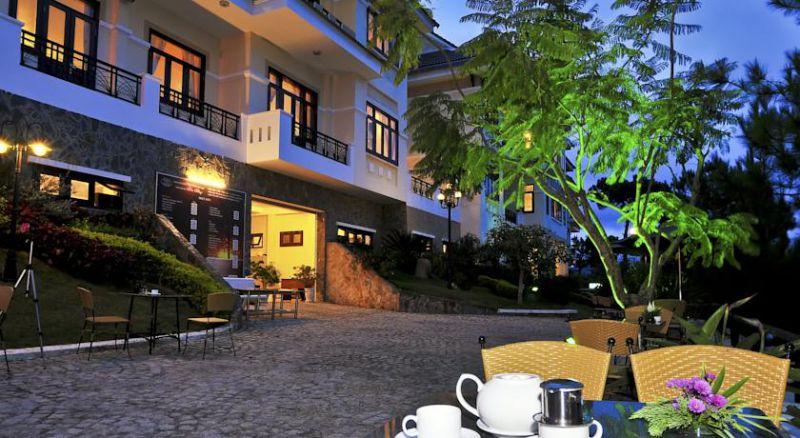 Không gian lãng mạn buổi tối ở Khách sạn Kỳ Hòa ở Đà Lạt