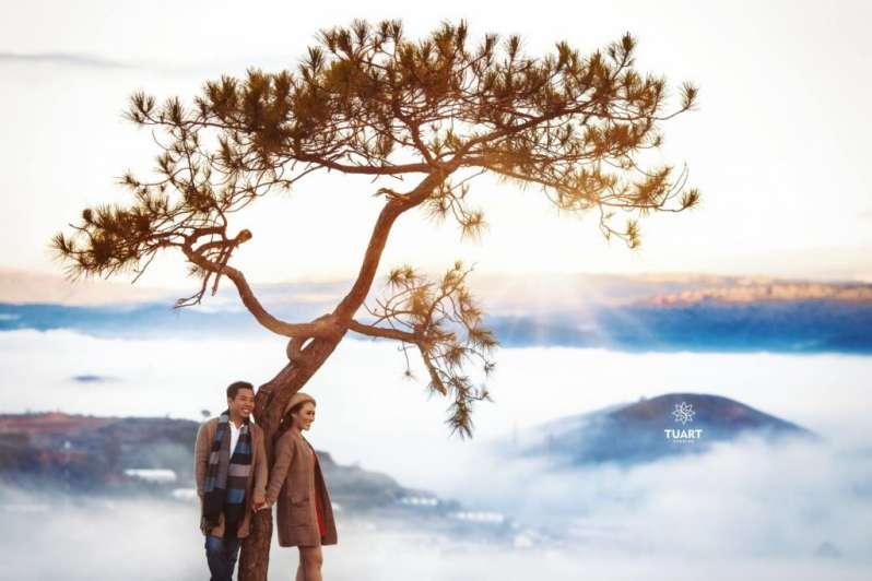 Chụp ảnh cưới Đà Lạt - tại cây thông cô đơn