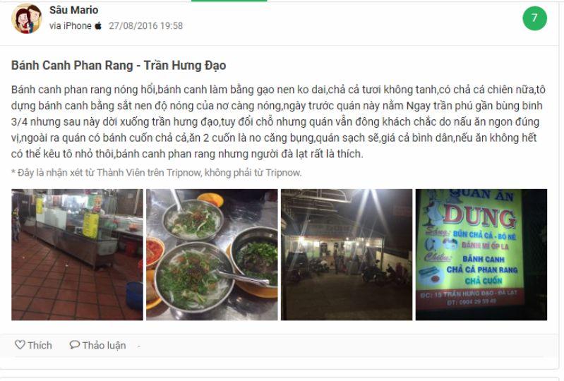 Đánh giá Bánh canh Đà Lạt - quán Phan Rang