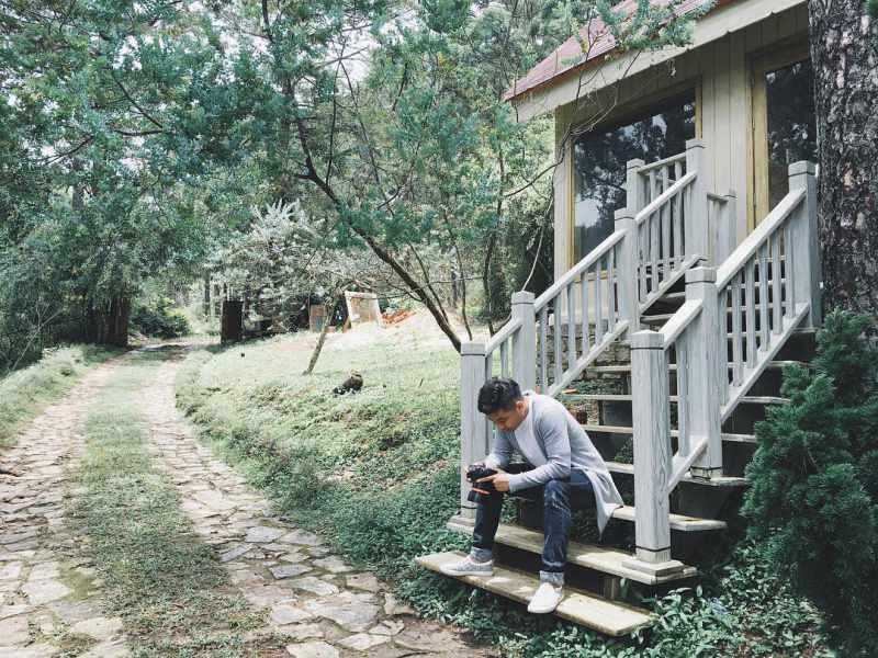 Khu biệt thự giao hưởng xanh Đà Lạt là một địa điểm lý tưởng để chụp hình