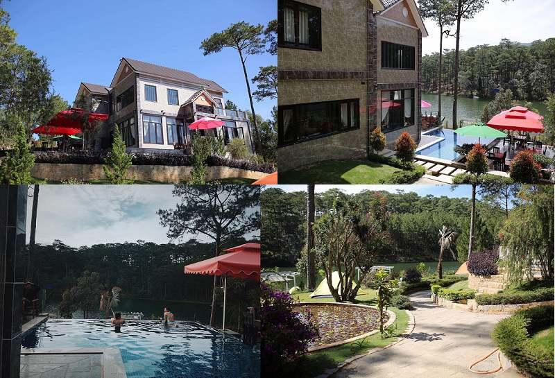 Hình ảnh Mingo villa đẹp bên hồ Tuyền Lâm