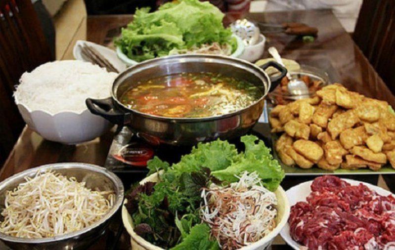 Món lẩu bò Đà Lạt - quán tên Nàng Hương