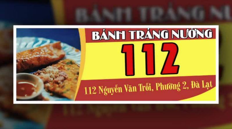Bánh tráng nướng 112 Nguyễn Văn Trỗi ở tp Đà Lạt