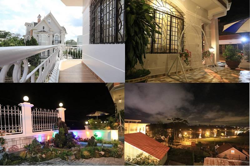 Khách sạn Đăng Uyên 2 ở Đà Lạt khá rộng rãi thoải mái và có view ngắm hồ Xuân Hương