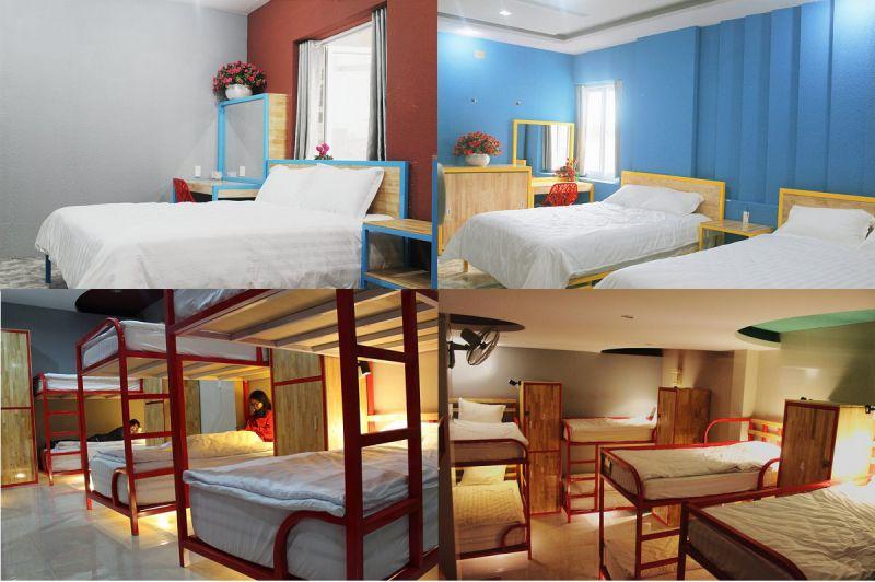 Không gian các phòng bên trong khách sạn Kim Cương ở Đà Lạt