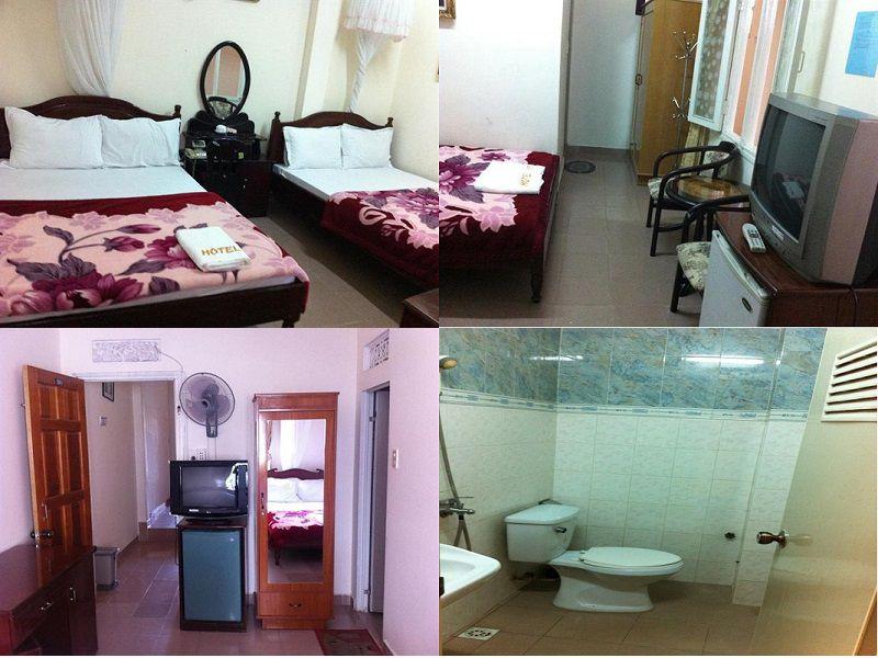 Các phòng nghỉ bên trong Khách sạn Quỳnh Anh ở Đà Lạt