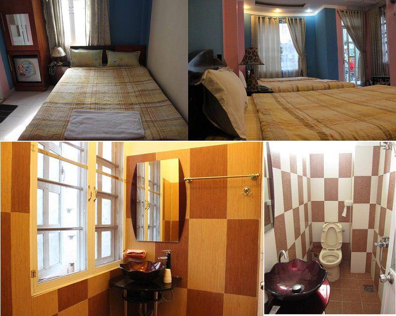 Không gian các phòng nghỉ bên trong Khách sạn Uyên Vy ở Đà Lạt