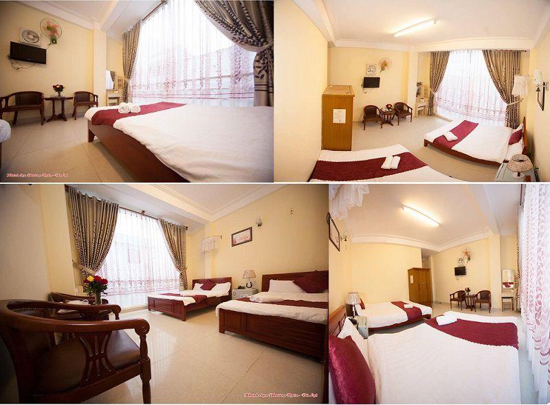Không gian các phòng ở Khách sạn Phương Uyên ở tp Đà Lạt