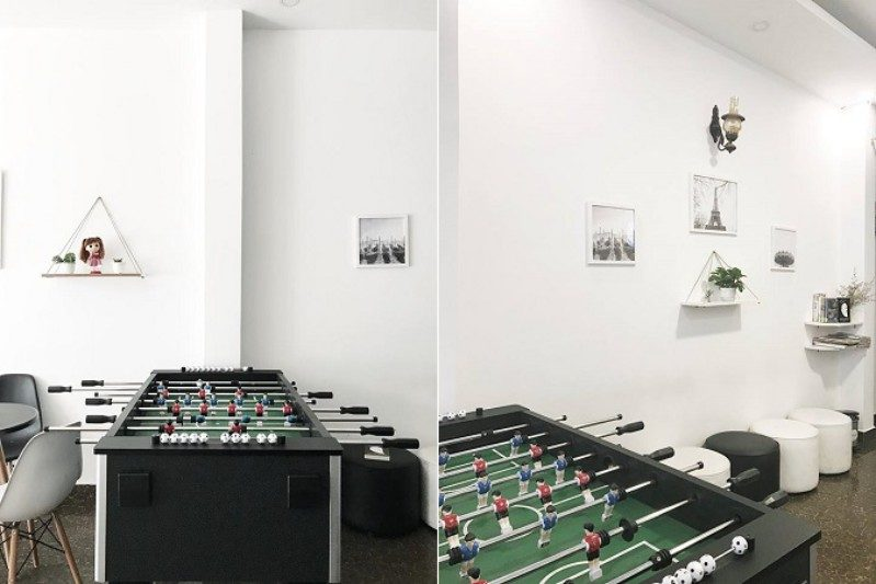 Phòng sinh hoạt giải trí chung bên trong Khách sạn Amour ở Đà Lạt
