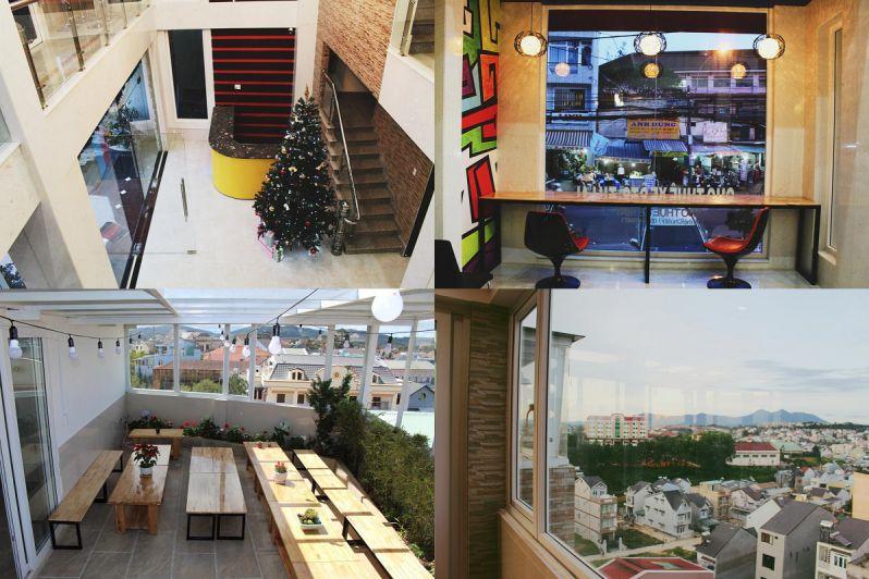 Khách sạn Kim Cương ở Đà Lạt có view ngắm phố khá đẹp
