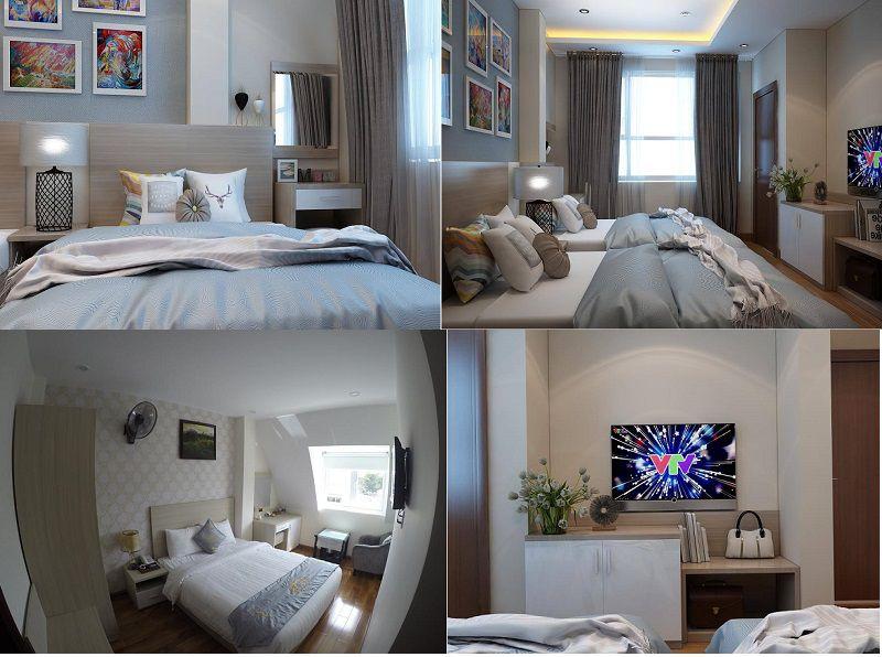 Các phòng nghỉ ở Khách sạn Minh Quang ở Đà Lạt