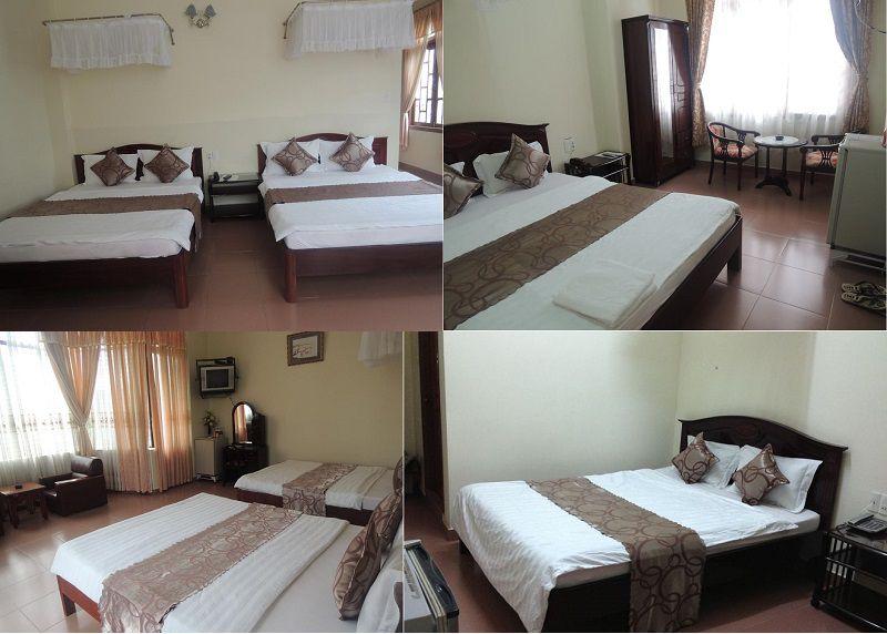 Các phòng nghỉ bên trong Khách sạn Nam Quang ở Đà Lạt