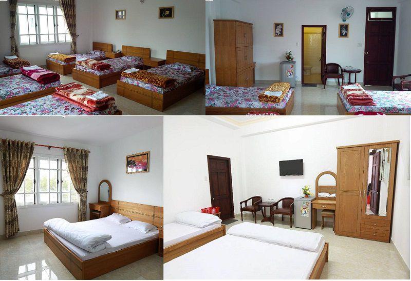 Các phòng nghỉ bên trong Khách sạn Quốc Hương ở Đà Lạt